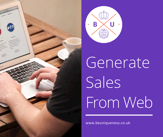How can you generate sales from your website?