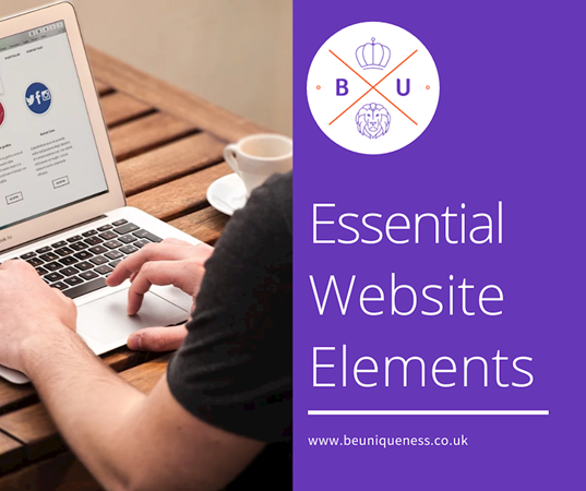 What are the essential elements of an effective website?