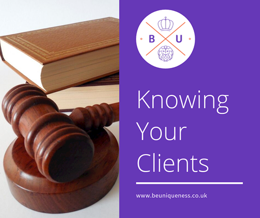 What do solicitors and barristers need to know about their clients?